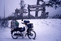 10万円日本一周ツーリング、雪の安房峠