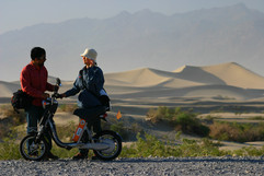 電動バイク世界一周アメリカのデスバレー国立公園