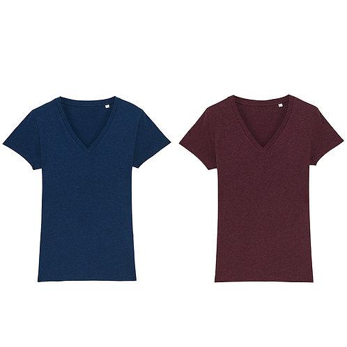Pack Noël duo - 2 t-shirts femme cols V en coton BIO au choix