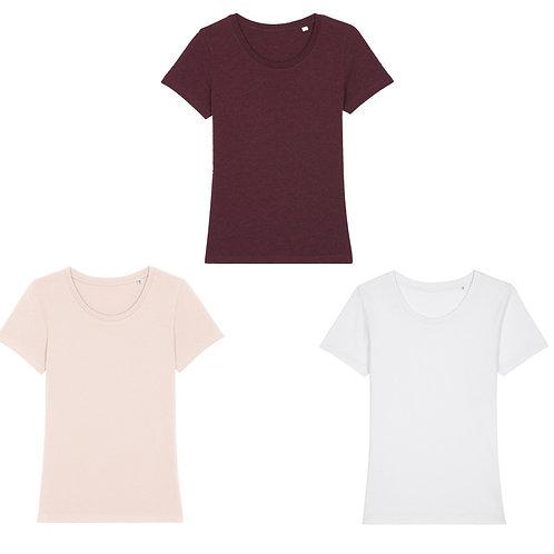 Pack trio - 3 t-shirts femme cols ronds en coton BIO au choix