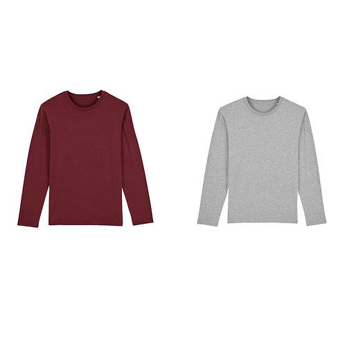 Pack duo - 2 t-shirts manches longues hommes en coton BIO au choix