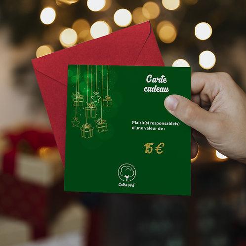 Carte cadeaux 15€ sans limitation de durée 🌿