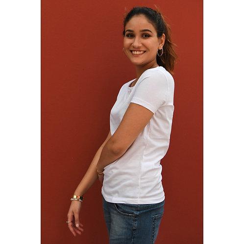 T-shirt Femme blanc en coton BIO