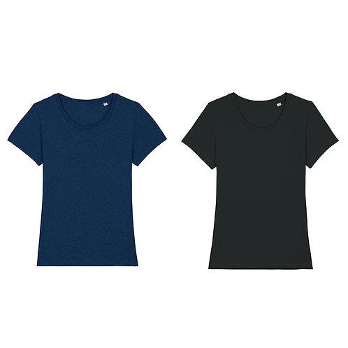 Pack duo - 2 t-shirts femme cols ronds en coton BIO au choix
