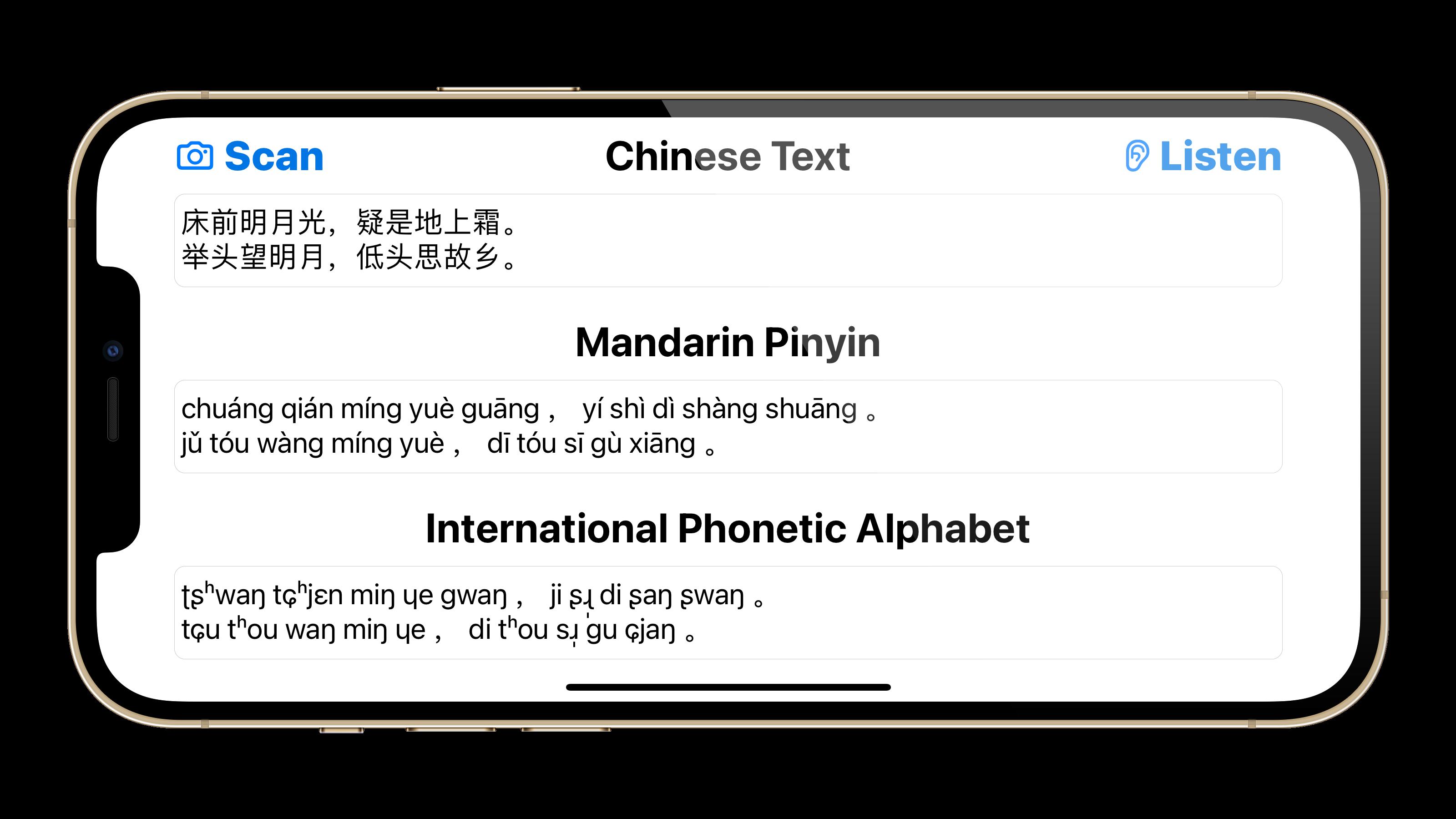 Mandarin Pinyin & IPA Central