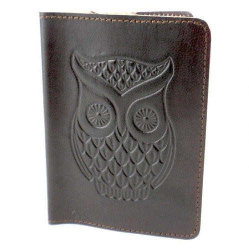 Owl Passport Cover - Brown Design