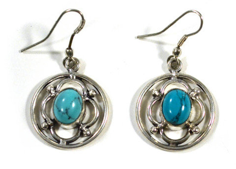 Aqua Deep Earrings