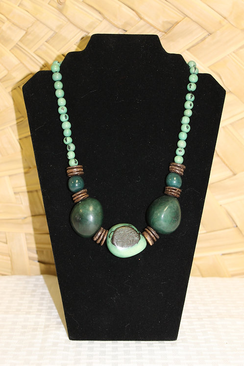 Whole Bead (3) Necklace Green