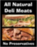 all natural deli meats - no preservatives
