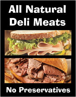all natural deli meats - no preservatives