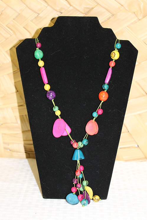 Tagua Necklace Blue Bell