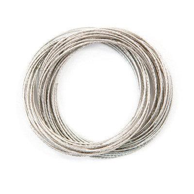 Silver Ripple Bangles