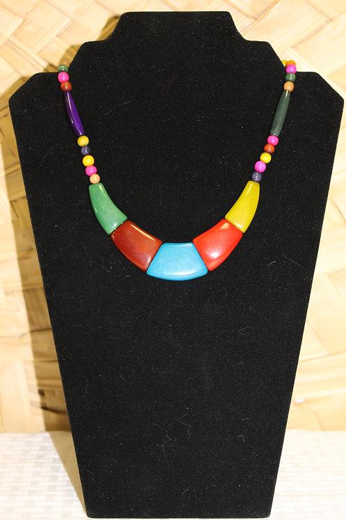 Tagua-Acai Necklace Multi-Color