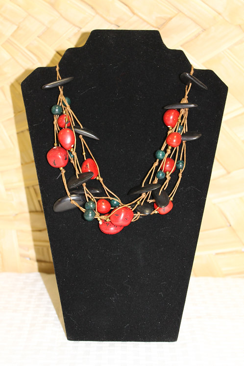 7C Necklace Black and Red
