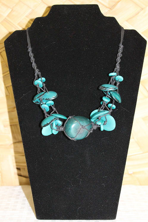 5C Tagua Necklace Teal