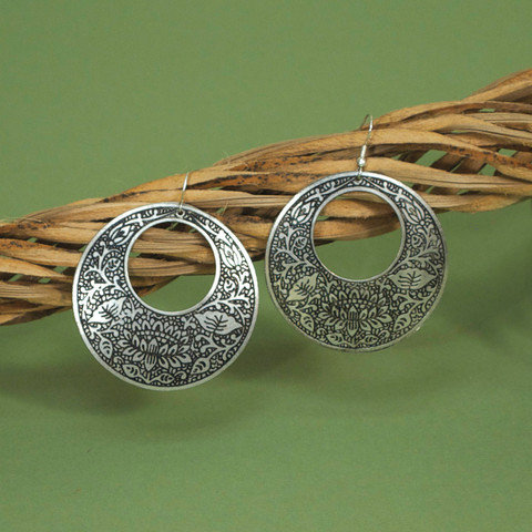 Metal Impression Earrings