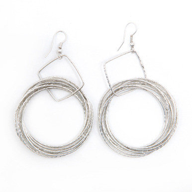 Silver Ripple Earrings