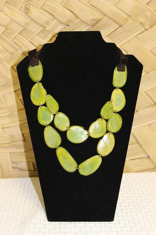 Sliced Tagua Lime Green