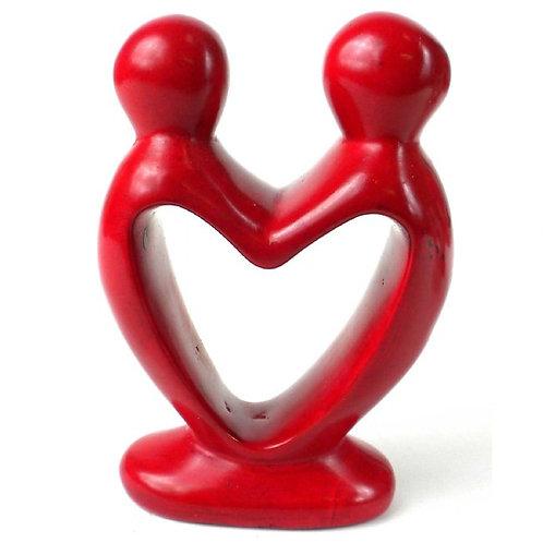 Soapstone Lovers Heart 4 in.
