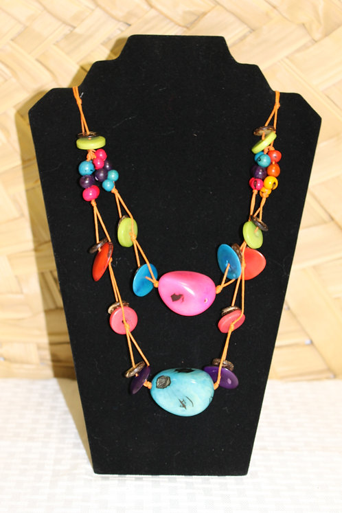 13C Necklace Pink and Blue