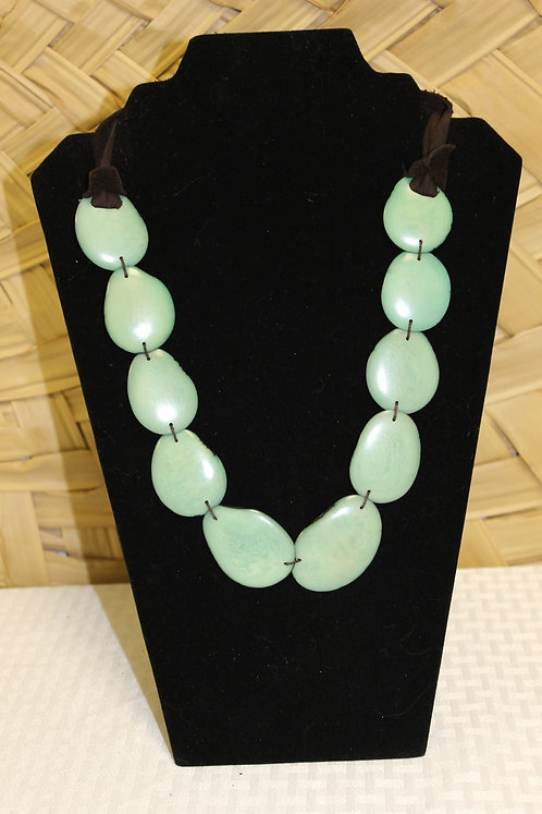 Sliced Tagua Light Green