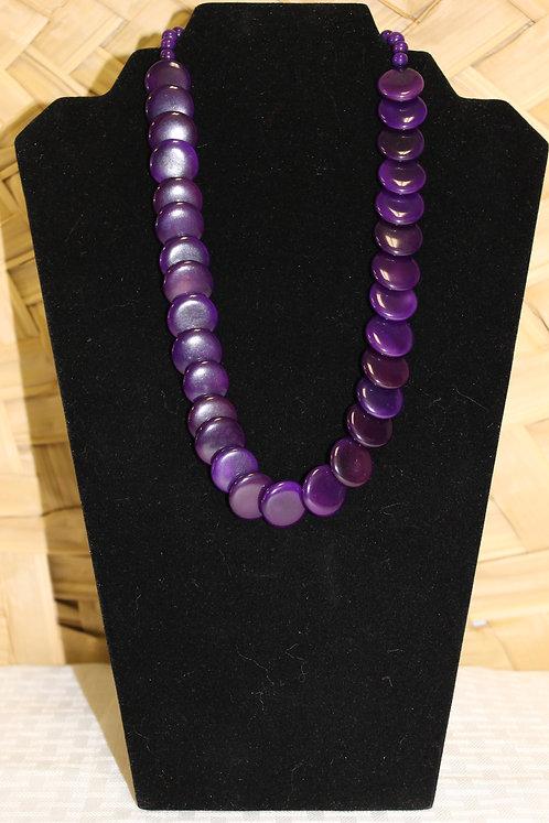 Tagua-Acai Necklace Purple