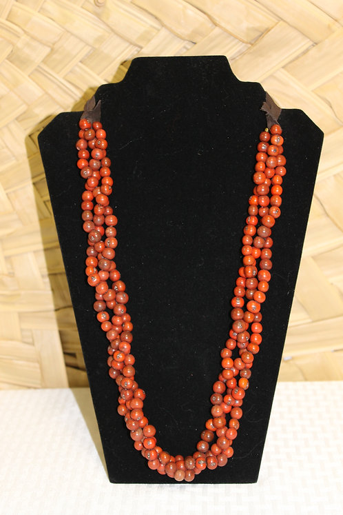 Acai Necklace Red/Brown