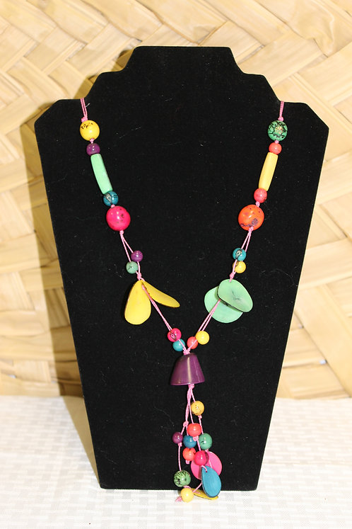 Tagua Necklace Purple Bell