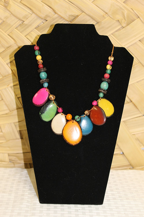 Tagua Necklace with Acai