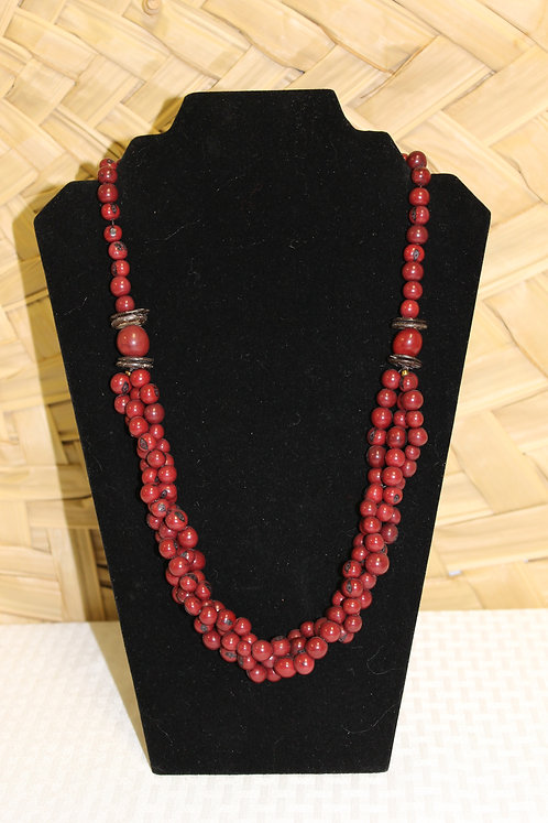 Acai Necklace Dark Red