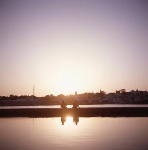 Sunset over Pushkar, India