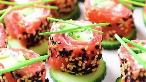 Tzatziki Salmon Rolls