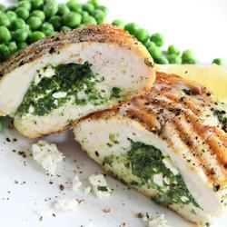 Spinach & Fetta Chicken and Vegies