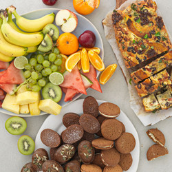 Fruit Biscuits and Banana Bread