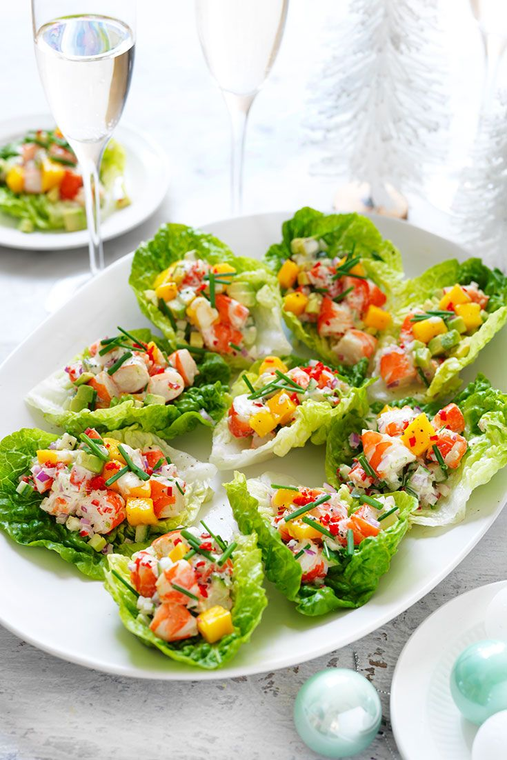 Prawn Avocado Mango & Chilli Cups
