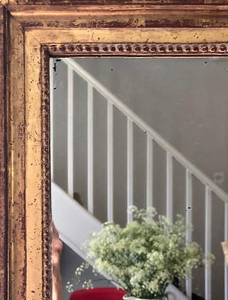 Small 19th Century French Gilt Mirror
