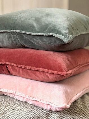 Stonewashed Velvet Cushions