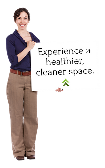 Experience a healthier, cleaner space..p