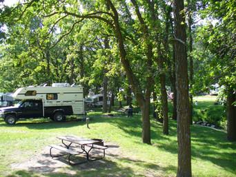 Tent sites along the creek