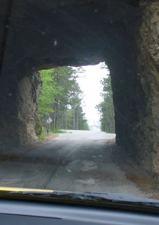 Tunnel with Mt Rushmore view