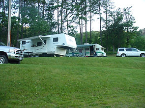 RV sites at Spokane Creek Cabins & Campground