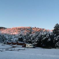 Sunrise with Snow