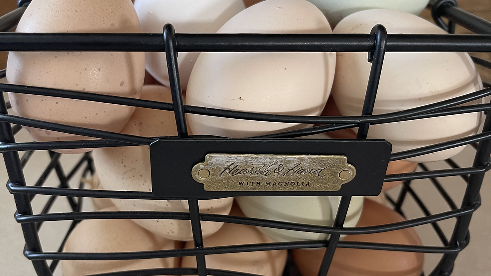 Farm Fresh Organic Eggs: 1 Dozen