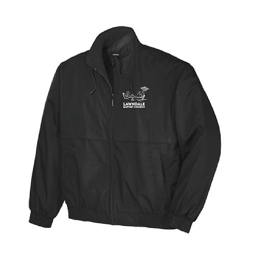 Embroidered Men's Classic Poplin Jacket