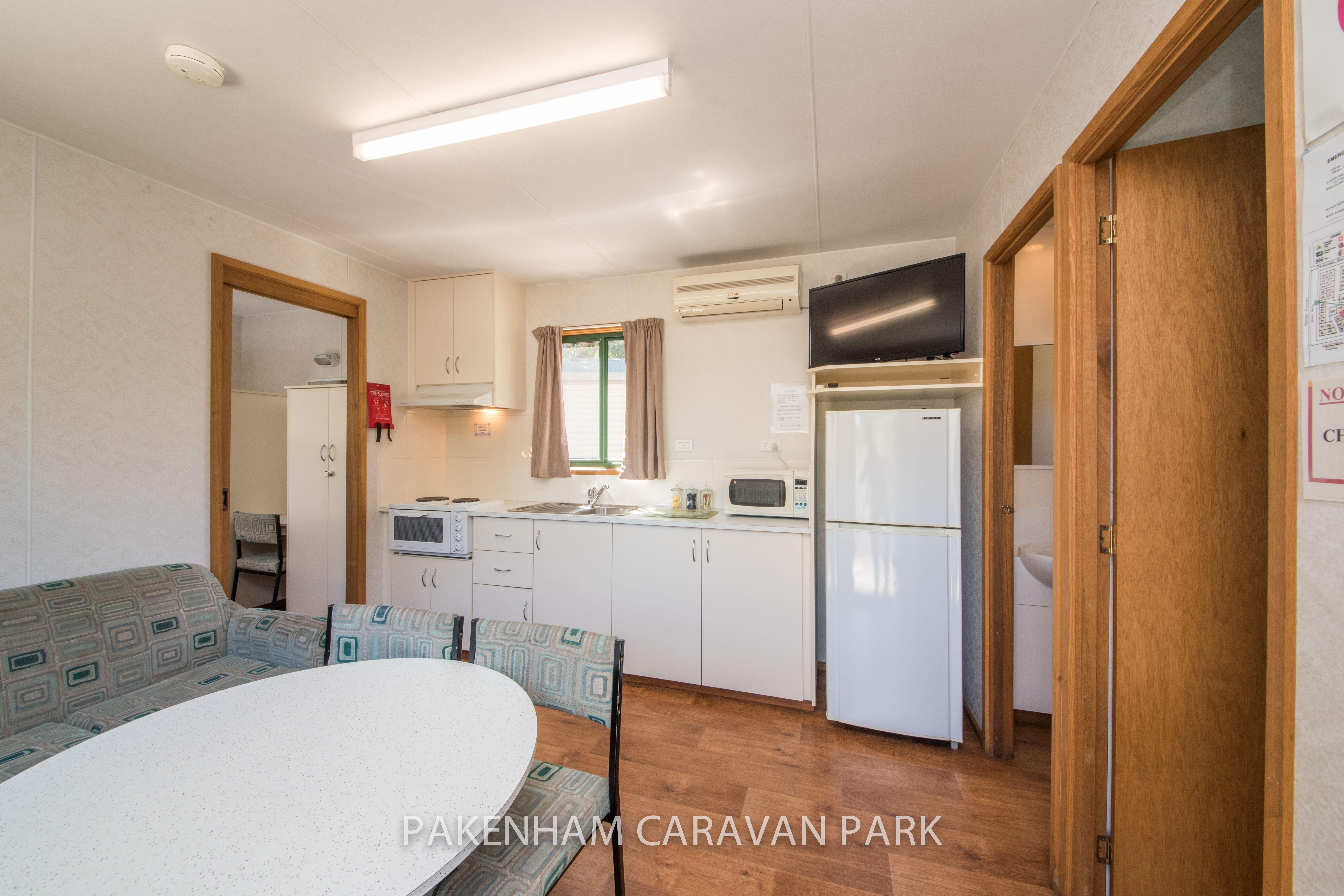 standard cabin kitchen, dinning area