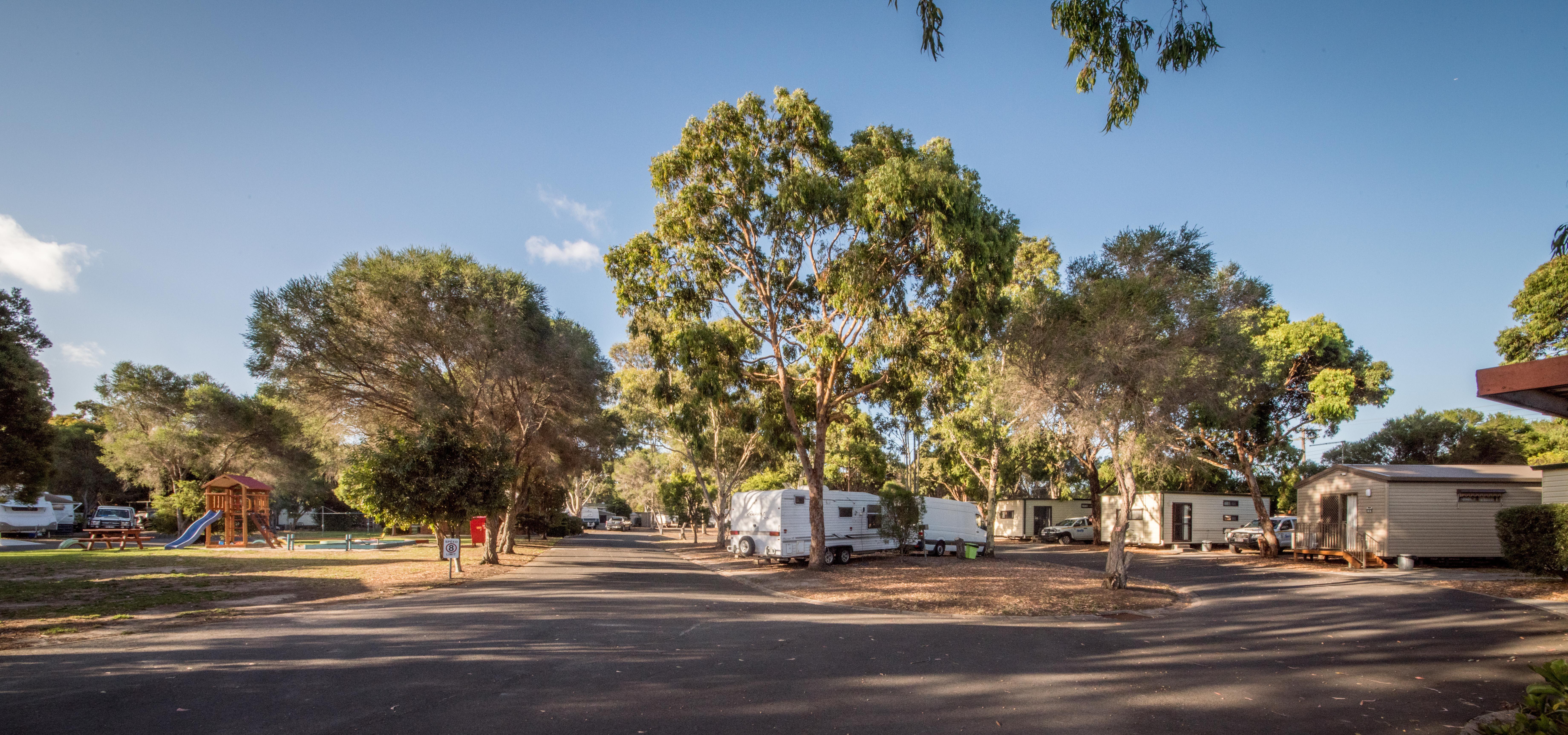 caravan park sites and cabins