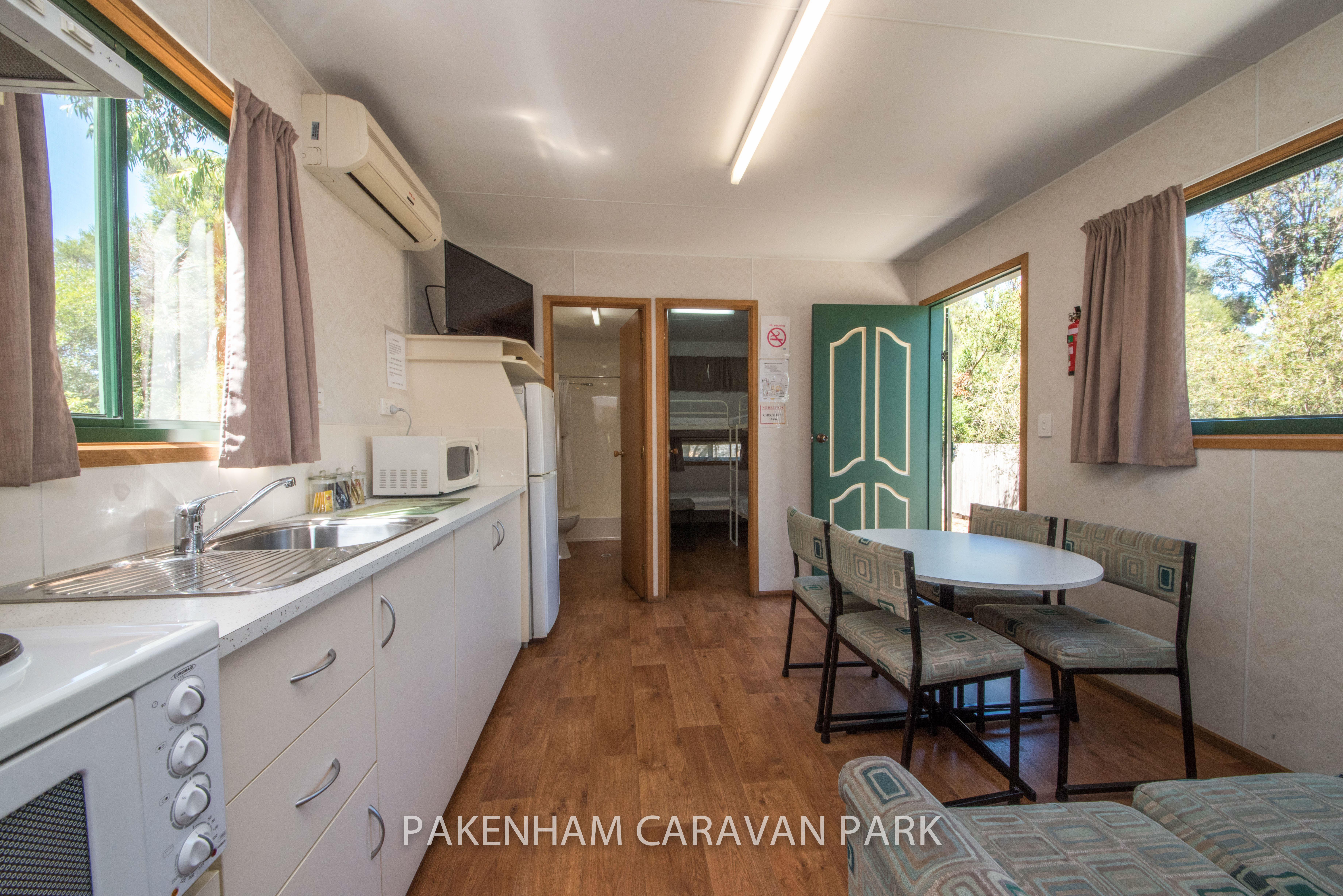 standard cabin kitchen dinning area