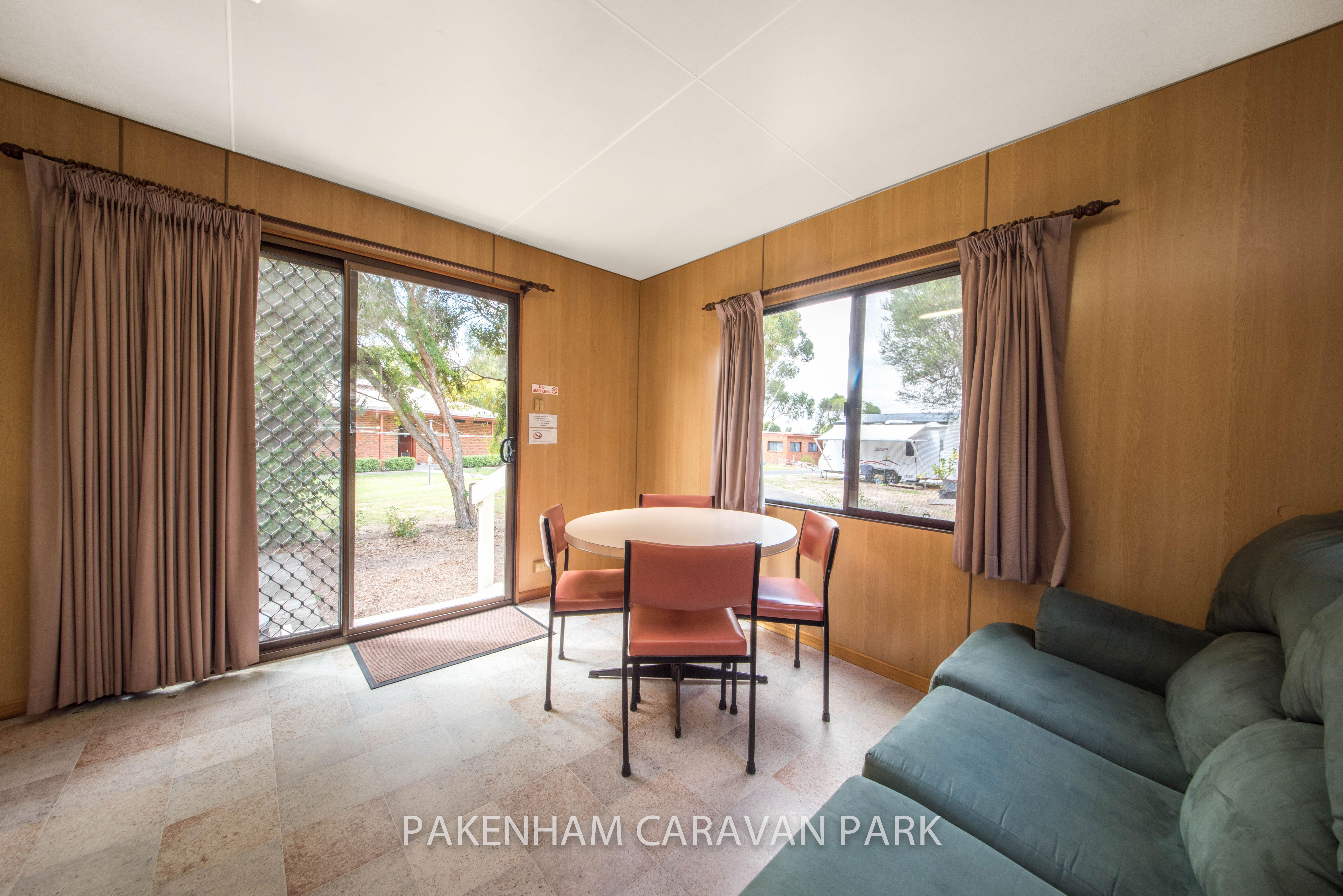 standard cabin table, lounge area