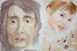 Beginner portraits - mixing flesh to