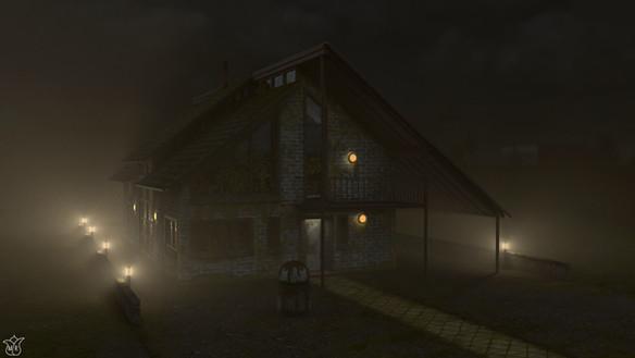 House (Night w/ Lights)